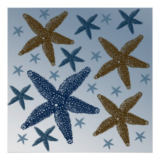 Down by the Sea Starfish Poster