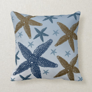 Down by the Sea Starfish Throw Pillow