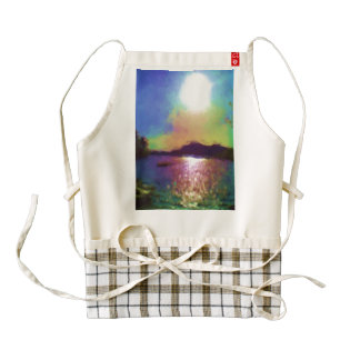 Down by the water zazzle HEART apron