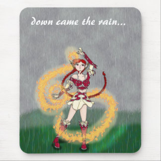 Down came the rain mouse pad