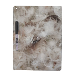 Down Comforter Feathers Photography Funny Dry-Erase Board