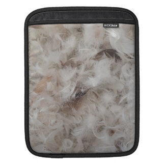 Down Comforter Feathers Photography Funny Sleeve For iPads