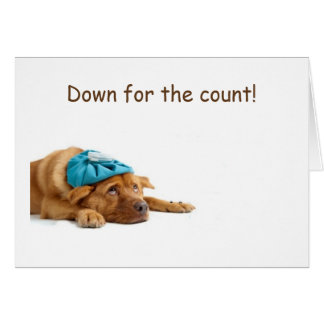 DOWN FOR THE COUNT=PUP CELEBRATED YOUR BIRTHDAY CARD