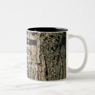 Down From The Tree (centered) Two-Tone Coffee Mug