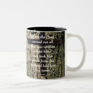 Down From The Tree Two-Tone Coffee Mug