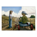 DOWN HILL RACER GREETING CARD