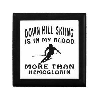 Down Hill Skiing designs Gift Boxes