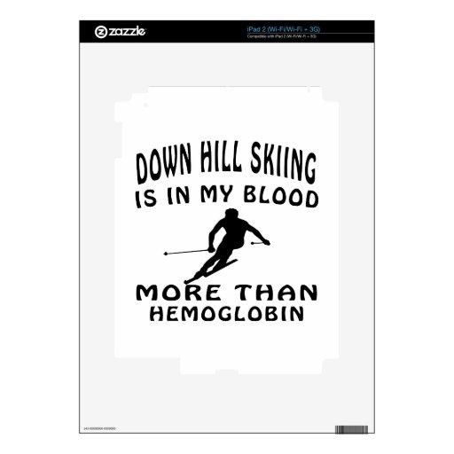 Down Hill Skiing designs iPad 2 Skin