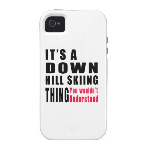 Down Hill Skiing Thing Designs Case-Mate iPhone 4 Cover