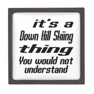 Down Hill Skiing THING DESIGNS Premium Trinket Box