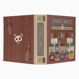 """Down Home Cooking 2"""" Recipe Binder"""