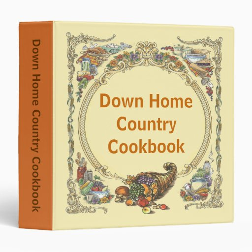 Down Home Country Cookbook Binders