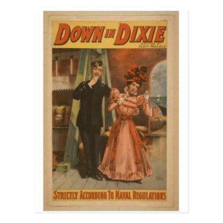 Down in Dixie Postcard