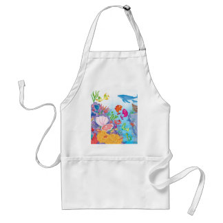 Down In The Ocean Adult Apron