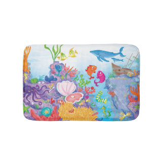 Down In The Ocean Bathroom Mat
