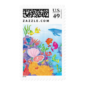 Down In The Ocean Postage Stamp