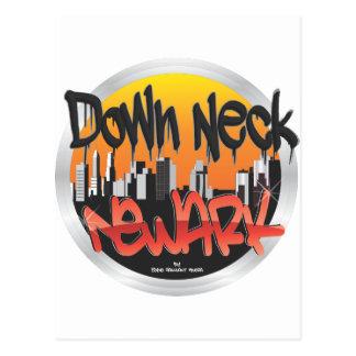 down neck newark postcard