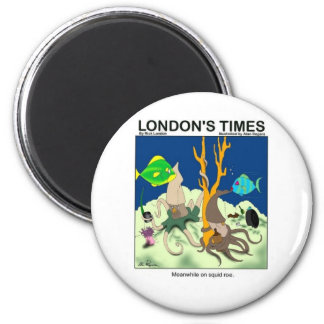 Down On Squid Roe Funny Gifts Tees & Collectibles 2 Inch Round Magnet