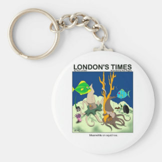 Down On Squid Roe Funny Gifts Tees & Collectibles Basic Round Button Keychain