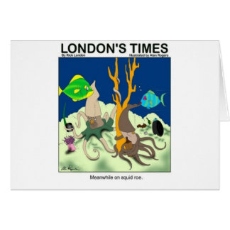 Down On Squid Roe Funny Gifts Tees & Collectibles Card