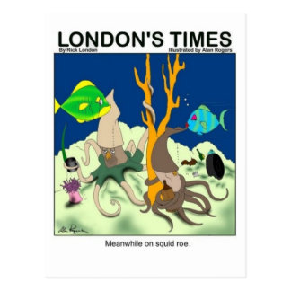 Down On Squid Roe Funny Gifts Tees & Collectibles Postcard