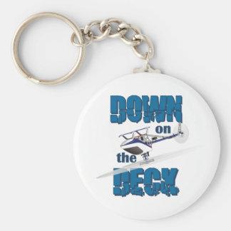 Down on the Deck Basic Round Button Keychain
