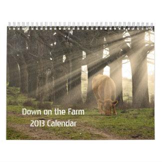 Down on the Farm - 2013 Calender Calendar