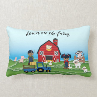 Down on the Farm African American Farmers Pillow