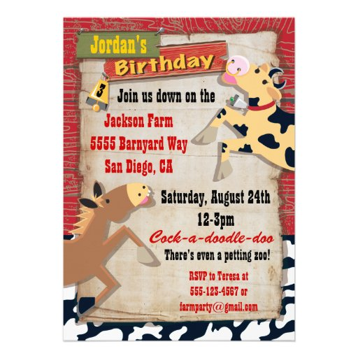 Farm Birthday Party Invitations was very inspiring ideas you may choose for invitation ideas