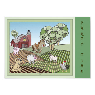 Down On The Farm Card