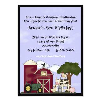 Down on the Farm Invitation