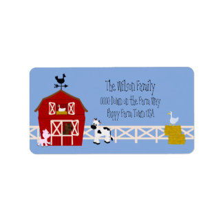 Down On the Farm Address Label