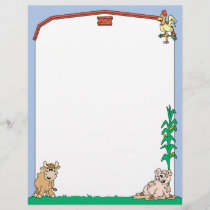 Down on the Farm Letterhead