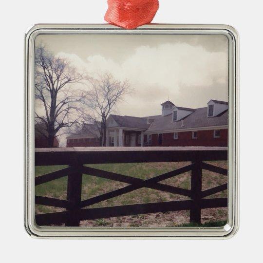 Down on the farm metal ornament