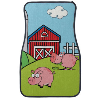 Down on the Farm Pink Pigs Car Mat