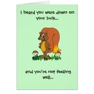 Down on your luck... greeting cards