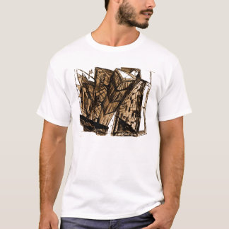 down perspective white T-Shirt