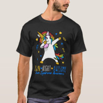 Down Right Awesome Unicorn Down Syndrome Awareness T-Shirt