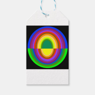 Down side up rainbow half oval gift tags