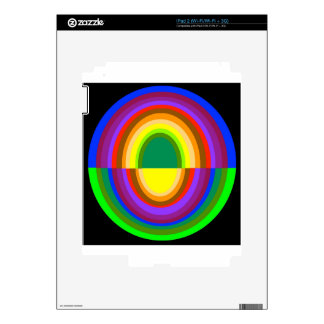 Down side up rainbow half oval skin for iPad 2