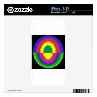 Down side up rainbow half oval skins for the iPhone 4S
