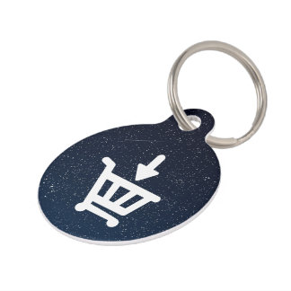 Down Stores Icon Pet Tag
