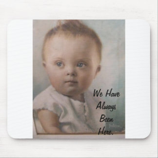Down Syndrome Angel. Mousepads