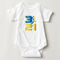 Down Syndrome Awareness 21 Baby Bodysuit