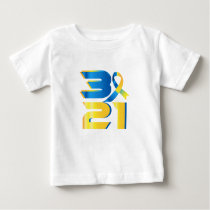 Down Syndrome Awareness 21 Baby T-Shirt
