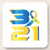 Down Syndrome Awareness 21 Beverage Coaster