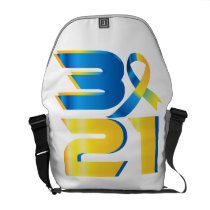 Down Syndrome Awareness 21 Courier Bag