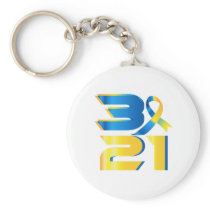 Down Syndrome Awareness 21 Keychain