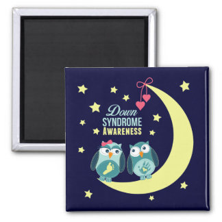Down syndrome Awareness 2 Inch Square Magnet