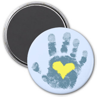 Down syndrome awareness 3 inch round magnet
